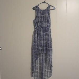 High low, sleeveless, light weight, flowy dress